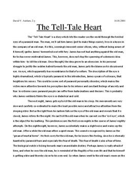 opinion essay of tell tale heart An essay i wrote for an assignment for the course on introduction to literature critical analysis of the short story tell-tale heart by edgar allan poe.