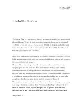 Lord of the Flies | Simon