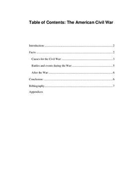 The American Civil War   Fördjupningsarbete