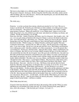 the outsiders summary sammanfattning studienet se