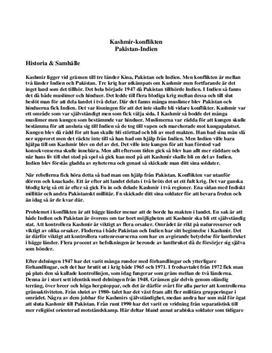 Konflikten i Kashmir | Introduktion