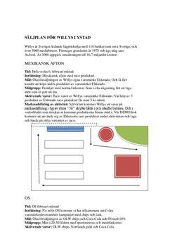 Willys säljplan | Inlämningsuppgift