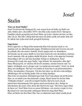 Stalins liv och politiska karriär | Historia