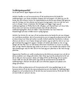Nedskräpning i Sverige | Referat