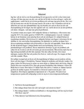 Ökenspridningen   Fördjupningsuppgift