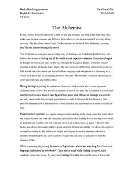 the alchemist analysis analys se the alchemist analysis analys