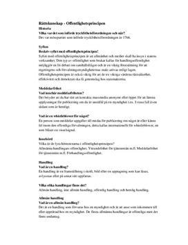 Offentlighetsprincipen - Frågor och svar