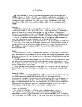 Medeltiden och Vikingatiden | Historia A