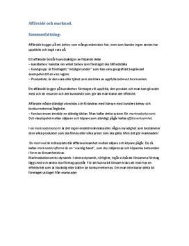 Affärsidé och marknad | Sammanfattning