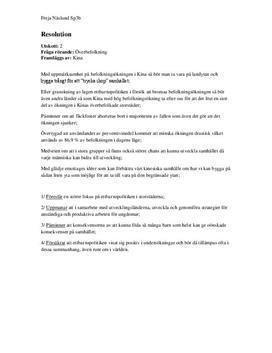 FN-resolution - Överbefolkning