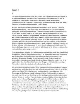Befolkningsökning, Massmedia och Källkritik - Inlämningsuppgift