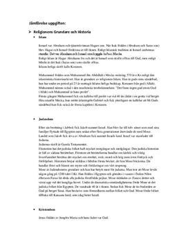 Religionskunskap: Abrahamitiska Religioner