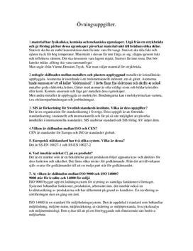 Material | Instuderingsfrågor