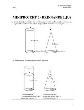 Matte D miniprojekt 6 - Brinnande ljus