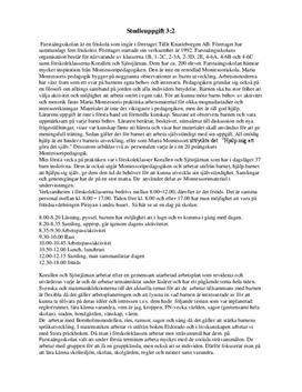 Farstaängsskolan och montesoripedagogik   Inlämningsuppgift