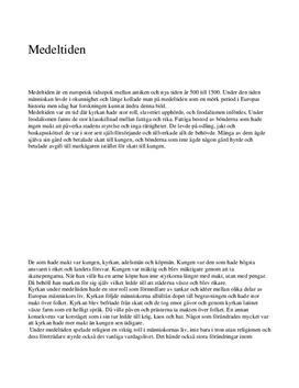 Medeltiden   Kyrka, samhälle, jordbruk, handel   Historia A