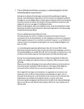 Företagsekonomi - organisation och ledarskap