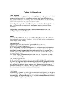 Folkpartiet Liberalerna och Liberalism i Sverige