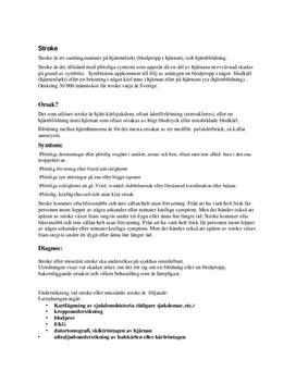 Neurologiska sjukdomar | Fördjupningsarbete