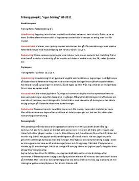 Träningsprojekt: Fotboll | Träningsdagbok