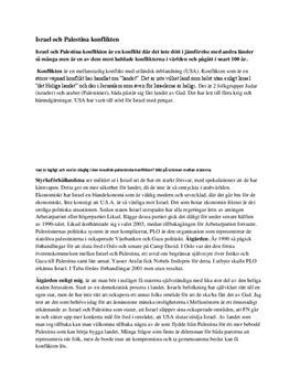 Israel och Palestina-konflikten - Introduktion
