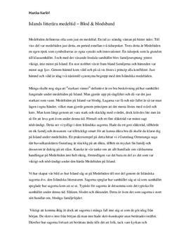 Fördjupningsuppgift: Island och isländska sagor under medeltiden - Svenska B