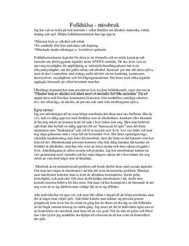 Utredande text: Missbruk och folkhälsa - Idrott och hälsa