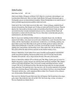 John Locke | Idéer, Religion, Liberalism, Kunskapsteori | Filosofi A