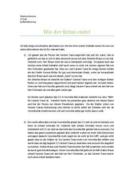Inlämningsuppgift: Carsten Tsara - Tyska
