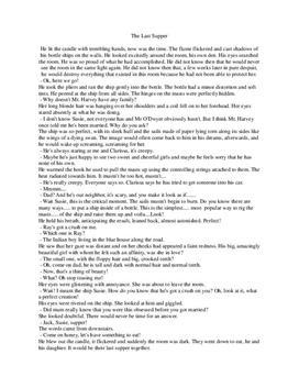 Novell | The Last Supper | Engelska