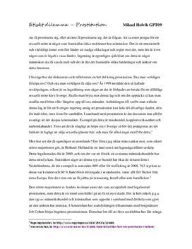Utredande text: Etik och prostitution
