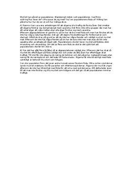 Fördjupningsuppgift: Populationer - Biologi A