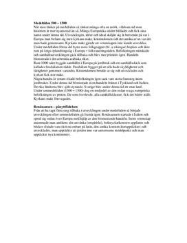 Medeltiden och Renässansen | Historia | Sammanfattning