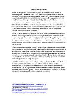 Fördjupningsuppgift: Befolkning, klimat och tillgångar - Geografi A