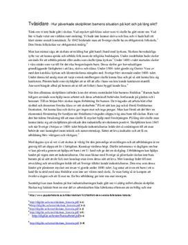 Skolplikt och skolgång i Sverige   Historia A