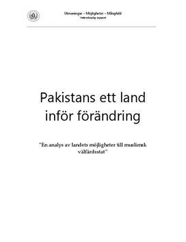 Pakistan | Historia och Utveckling