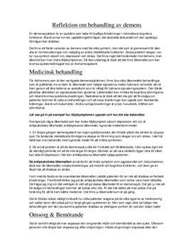 Demens - Behandling och omsorg | Utredande text