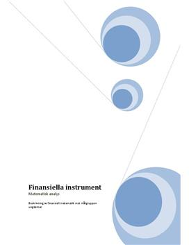 Projektarbete: Finansiella Instrument - Matematik