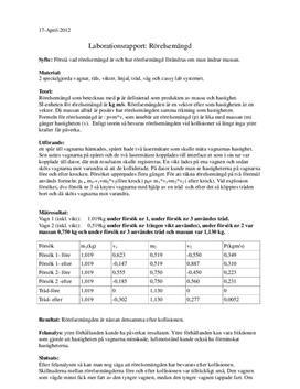 Labbrapport: Rörelsemängd - Fysik