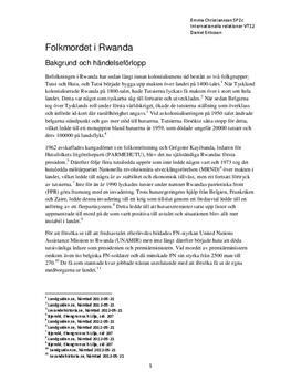 Tutsi och Hutu | Folkmordet i Rwanda