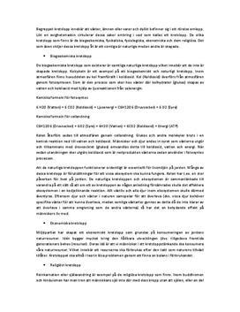 Fördjupningsuppgift: Kretslopp - biogeokemiska, ekonomiska, religiösa