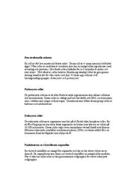 Fördjupningsuppgift: Celler - Biologi A
