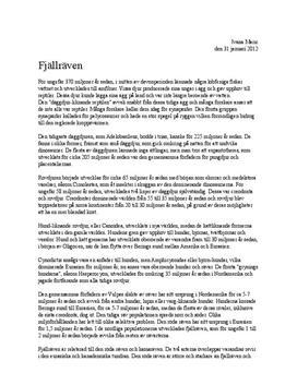 Fördjupningsuppgift: Fjällrävens etologi - Biologi 1
