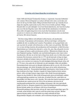 Revolutionerna i Amerika och Frankrike | Historia A