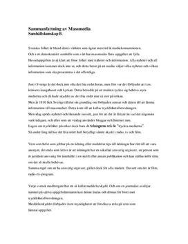 Massmedia i Sverige   Begrepp