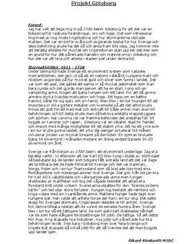 Fördjupningsuppgift: 1700-talet i Sverige