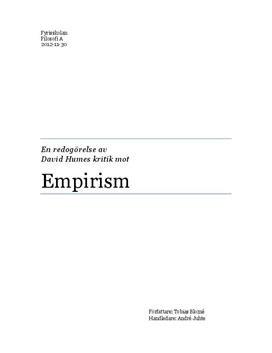 Fördjupningsarbete: David Hume och Empirism
