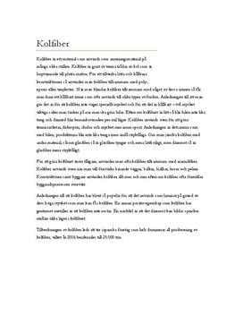 Fördjupningsuppgift: Kolfiber - Kemi A