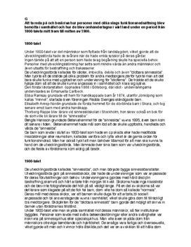 Synen på funktionsnedsättning i Sverige | Historia