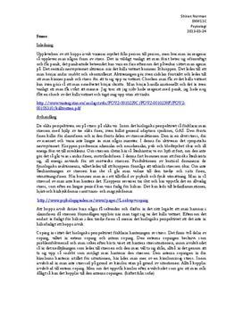 Fördjupningsuppgift: Stress ur olika perspektiv - Psykologi 1
